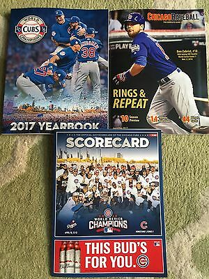 2017 Chicago Cubs Yearbook Gameday Scorecard Maddon  Bryant Rizzo Lester Wrigley