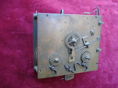 Fine 18Th C French Or Swiss Mantel Clock Movement Verge Escapement Double Hammer