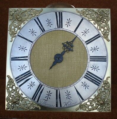 "Earlier 18Th C 30 Hour Longcase Clock Movement With 10 "" Brass Dial"