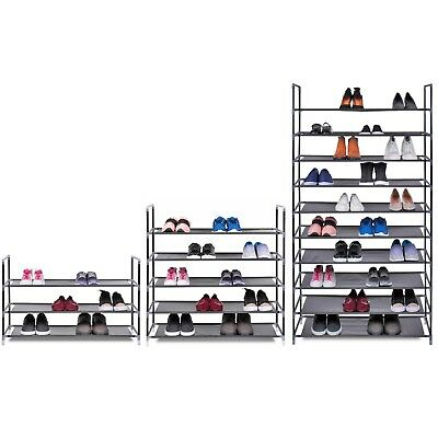 3,5 & 10 Tier Shelf  Shoe Storage Rack Organiser for 15, 25 or 50 pairs of shoes