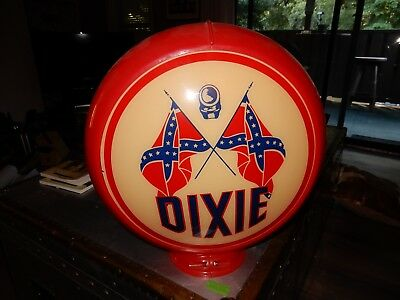 "Dixie 13.5"" Gas Pump Globe w/ Red Plastic Body"