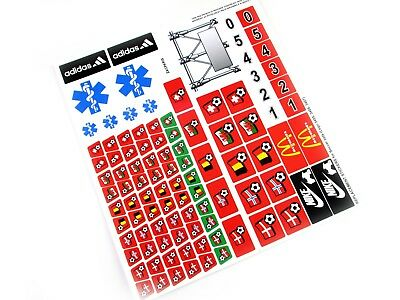 CUSTOM STICKERS for Soccer Lego 3407 Red Team Bus , CUSTOM BUILDS ETC 'Red'