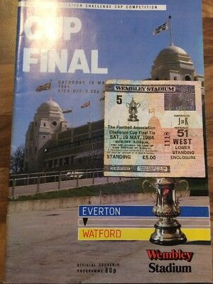 1984 Fa Cup Final Everton V Watford With Ticket