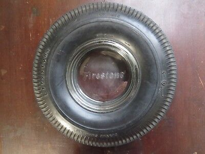 "Vintage Firestone Tire Ashtray Deluxe Champion 6.25"" Gum Dipped"