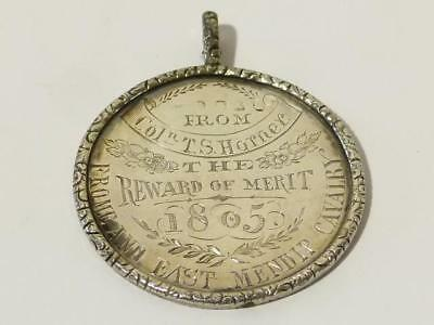 London 1805 Colonel T.S. Horner Frome & East Mendip Cavalry Silver Medal #F13