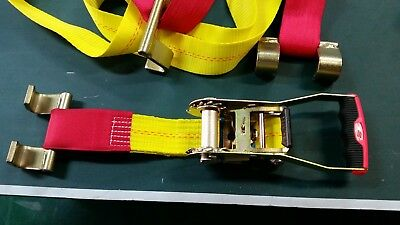 Car Tiedowns for trailer or truck tow truck  New- Quality high vis yellow