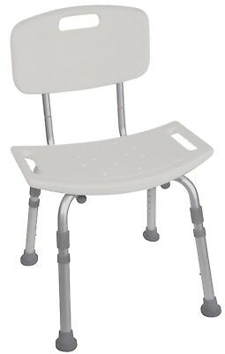 Lightweight Aluminium Seat Bench Chair With Backrest  Shower Stool Bath
