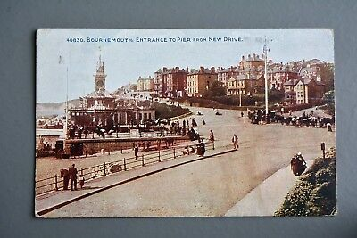 R&L Postcard: Photochrom, Bournemouth Pier Entrance Posted 1923