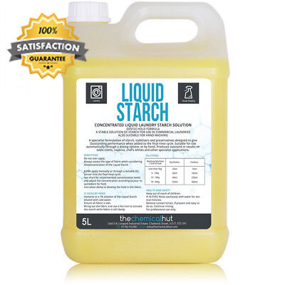 THE CHEMICAL HUT® 5L Concentrated Liquid Laundry Starch Solution, for a...