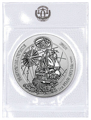 2018 Rwanda Nautical Ounces - HMS Endeavour 1 oz Silver RWF 50F GEM BU SKU53638