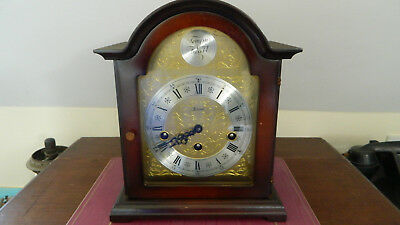 Vintage Franz Hermle Westminster Chiming Bracket Mantel Tempus Fugit Clock