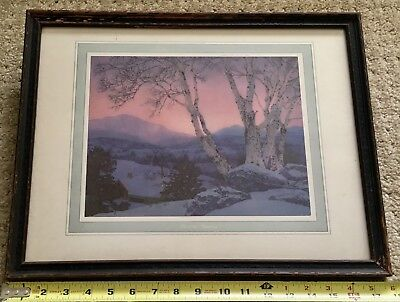 "Framed Original Maxfield Parrish ""Christmas Morning"" Brown & Bigelow"