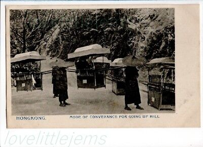 c1905 PPC Hong Kong Mode of Conveyance for going Up Hill