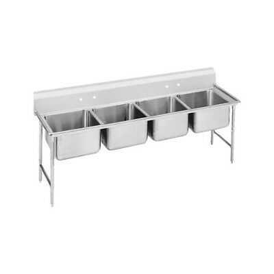 "Advance Tabco 930 Series 89"" x 31"" Seamless Bowl 4 Compartment Scullery Sink"