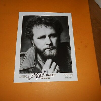 Razzy Bailey American musical artist Hand Signed Photo