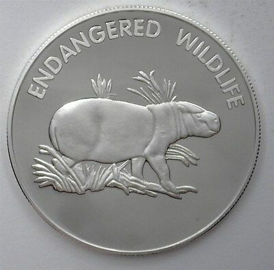 Endangered Wildlife Series 2005 10 Kwacha - Pigmy Hippo - Perfect Proof Dcam
