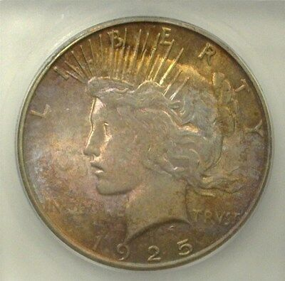 1925-S Peace Silver Dollar  Icg Ms63  Toned!