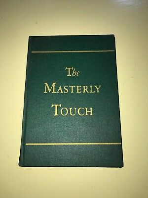 The Masterly Touch Cocktail Book Canada Dry Ginger Ale 1934 Hardcover