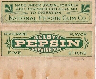 Selby's Pepsin Gum, Mc Ness & Yucatan Chewing Gim Labels