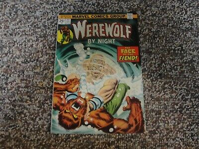 '74 Werewolf By Night # 22 In Fine + Condition With The Fiend