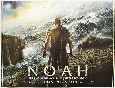 NOAH (2014) Original Quad Movie Poster - Russell Crowe,  Jennifer Connelly (ADV)