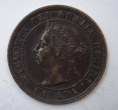Canada 1896 Large Cent  Nearly Uncirculated
