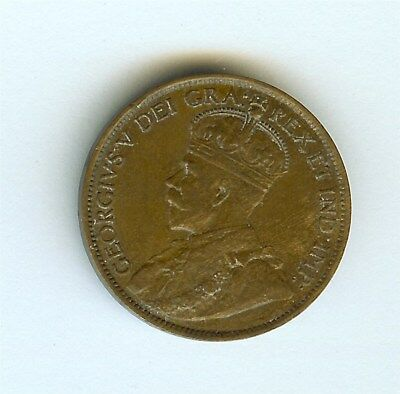 Canada 1913 Large Cent  Uncirculated Brown