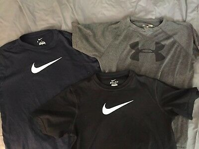 Lot Nike Under Armour Youth Large Dry Fit T-Shirts