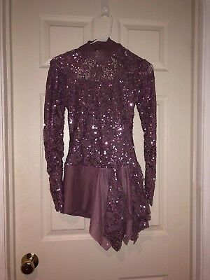 Weissman Dance Costume Jazz/Lyrical SZ Small Adult Purple with Sequins