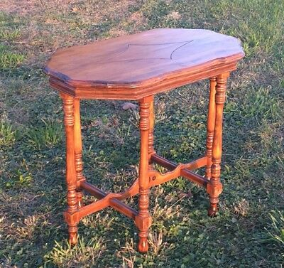 Antique Radio Table, Early 1900's Art Deco Hannahs Quality Furn Wisconsin GC