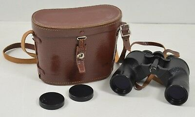 Vintage Wards Binoculars  7x35 Coated Precision Optics & Case Made In Japan