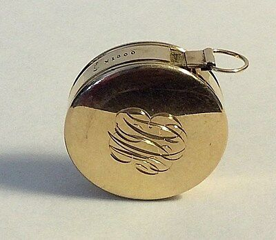 Beautiful Antique 14k Solid Yellow Gold Simons Measuring Tape Sewing  #440