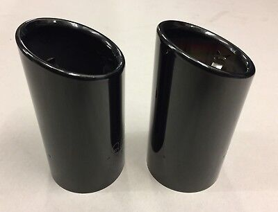 New genuine Audi A1/A3 double exhaust tips set of 2 in black chrome 8P0071761B