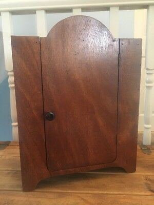 Lovely Miniature Retro Wardrobe Bedroom Antique Style Wooden Apprentice Piece