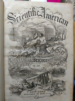 🇺🇸scientific American 1881 Complete Year Vols.44 And 45, 52 Bound Issues 🇺🇸
