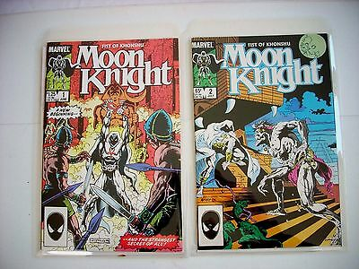 MOON KNIGHT: FIST OF KHONSHU #1-2 Marvel Comics 1985 Mint UR High Grade