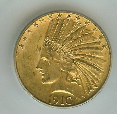 1910-S Indian Head $10 Gold   Icg Ms-61  Scarce As Most Were Melted In The 30's