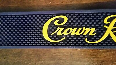 "Crown Royal Rubber Bar Spill Mat Canadian Whisky 20.5"" x 3.25"""
