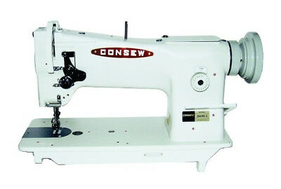 New Consew 206RB-5 Upholstery Sewing Machine with stand,servo motor and led lamp