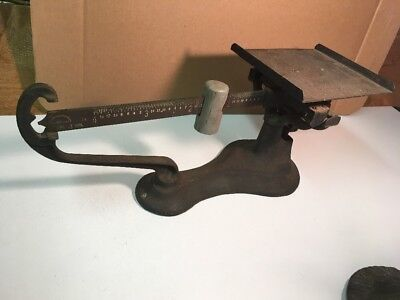 Antique Balance Scale The Jacobs Bros. Co. Inc. New York Cast Iron W/ Tray