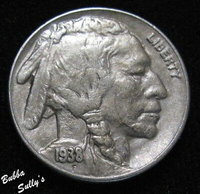 1938 D/S Buffalo Nickel <> FS-05-1938D-512 D/S <> ABOUT UNCIRCULATED