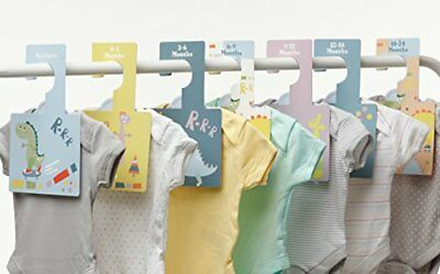 Baby Closet Dividers Dinky Dino | Clothes Organizers Pack of 7 Hangers Other
