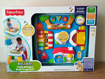 Fisher Price Rire & Eveil - Table Bilingue Éveil progressif