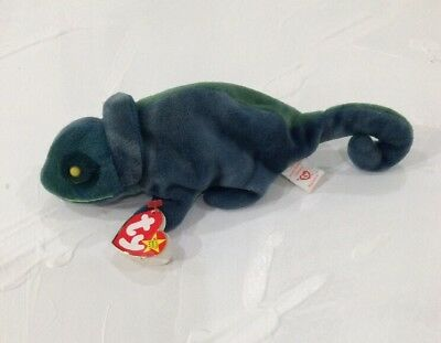 ty Beanie Babies Collect. - Rainbow (The Chameleon) With Errors (Bluish Green)