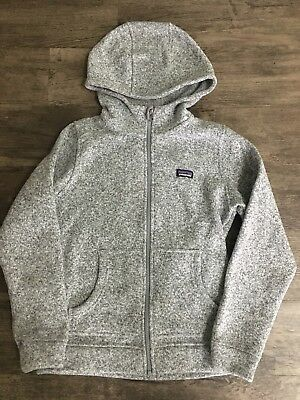 Kids Patagonia Better Sweater Hoody Gray Size XL/14 - Hard To Find!!