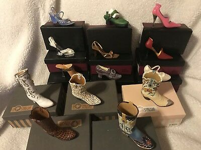 Lot of 14 JUST THE RIGHT SHOE by Raine And NOSTALGIA Boots Miniature Shoes