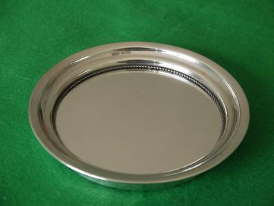 Superb Solid Sterling Silver Hm 1983 Circular Tray Wine Coaster Dish 153Grms