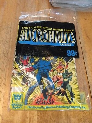 Marvel Micronauts 1 2 3 Bagged Set Whitman SEALED Poly Bag Unopened