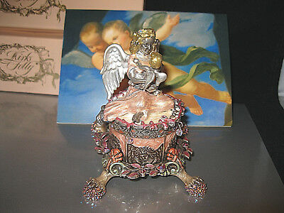 "Kirks Folly ""magnificent Angels By The Sea Candleholder"" Extremely Rare/signed"