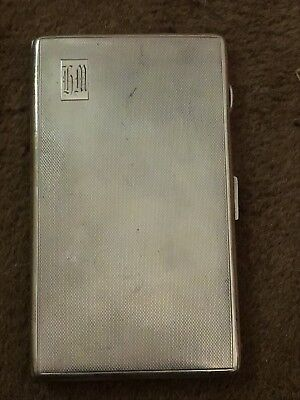 Sterling Silver Cigaret Case Harman Brothers 1946 207 grams